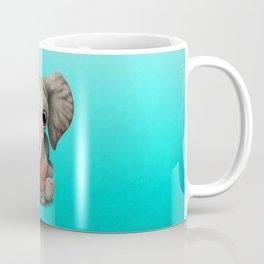 Baby Elephant Playing With Basketball Coffee Mug