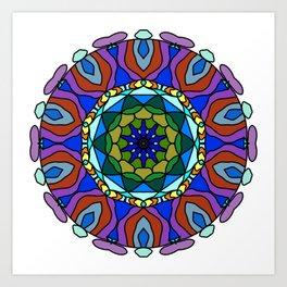 pastel fractal mandala Art Print