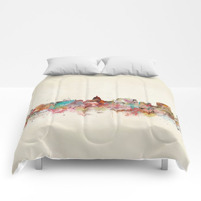 madison wisconsin skyline Comforters