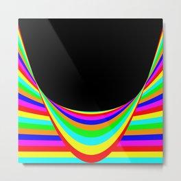Color Warp Metal Print
