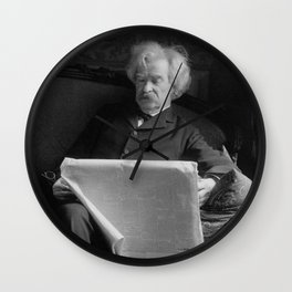Mark Twain - American Author and Humorist Wall Clock