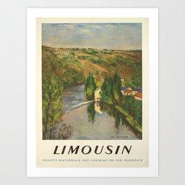 limousin societe nationale des vintage Poster Art Print