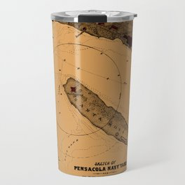 Map Of Pensacola 1862 Travel Mug