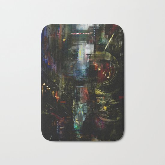 Astronaut in the city Bath Mat