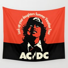 Ac/Dc angus young Wall Tapestry