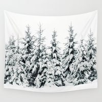 snow Wall Tapestries featuring Snow Porn by Tordis Kayma