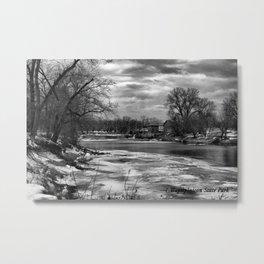 Icy Water Metal Print
