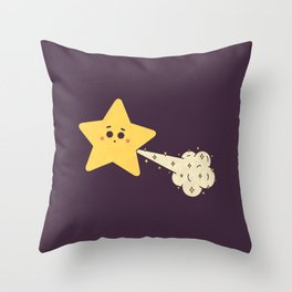 Tooting Star Throw Pillow