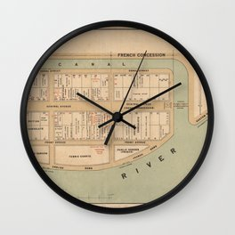 British Concession Wall Clock