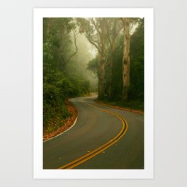 A bend in the Road Art Print