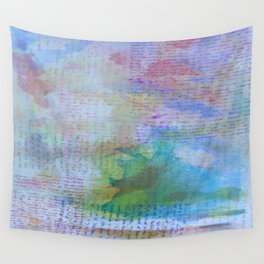 Words and Water Paint 3 Wall Tapestry