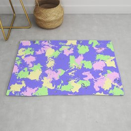 Purple Abstraction Rug