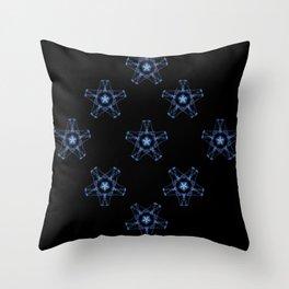 Blue Silk Throw Pillow