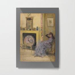 James Abbott McNeill Whistler - The Yellow Room Metal Print