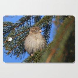 Bird in winter Cutting Board