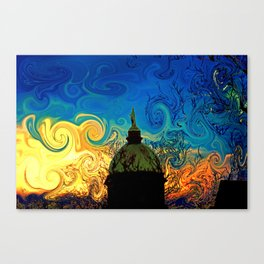 Starry Night Golden Dome Canvas Print