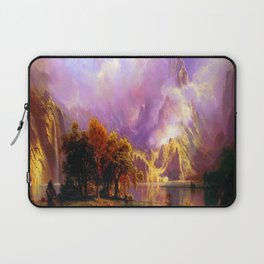 Albert Bierstadt Rocky Mountain Landscape Laptop Sleeve