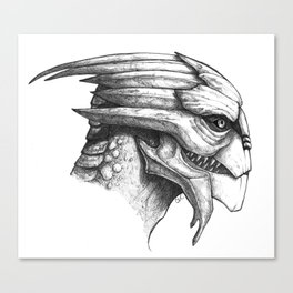 Male Turian Profile Canvas Print