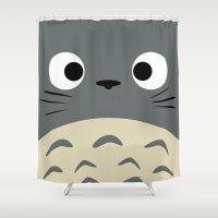 miyazaki Shower Curtains featuring Curiously Troll ~ My Neighbor Troll by Canis Picta