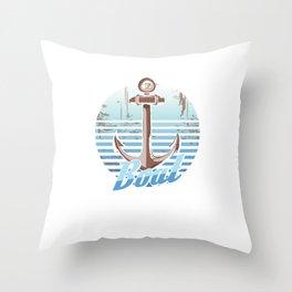 Boats Sailing Ship Boating Oceans Sea Lovers Sailor Boat Gift Throw Pillow