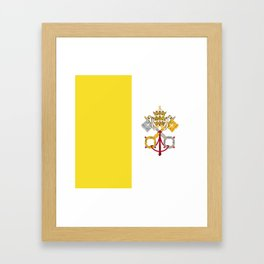 Vatican City Holy See flag emblem Framed Art Print
