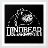Vintage Dinobear Art Print