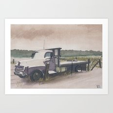 The Work Truck Art Print