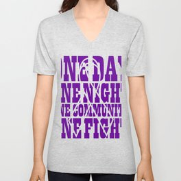 One Fight Gifts For Cancer Patients Unisex V-Neck