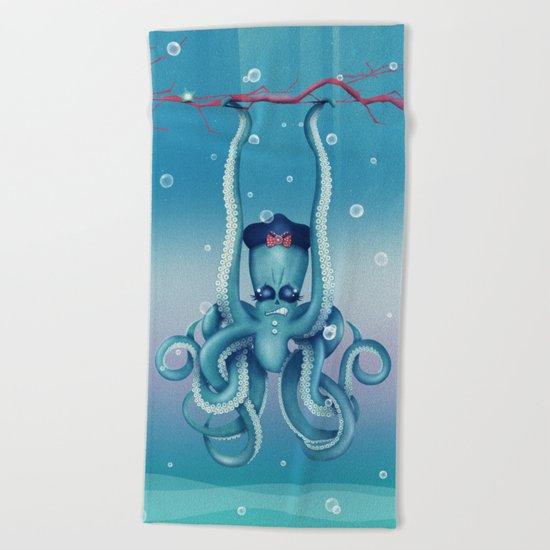 Octopus Dilemma Beach Towel