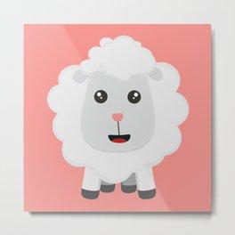 Cute little sheep B9ny3 Metal Print
