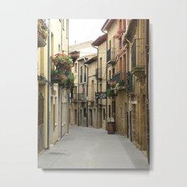 Alleyway in Laguardia Spain Metal Print