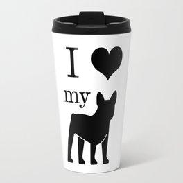 I heart my Frenchie Travel Mug