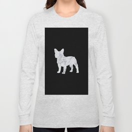 French bulldog marble noir Long Sleeve T-shirt