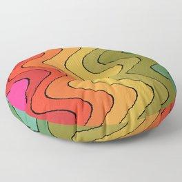 Groovy Waves #2 Floor Pillow