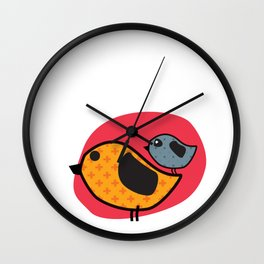 CUTE BIRDS Wall Clock