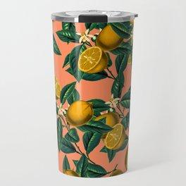Lemon and Leaf Travel Mug