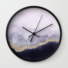 Abstract Marble Landscape Wall Clock
