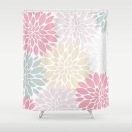 Pastel Petals Shower Curtain