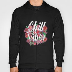 Chill Vibes - Floral Black Hoody