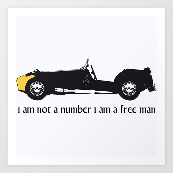 i am not a number Art Print