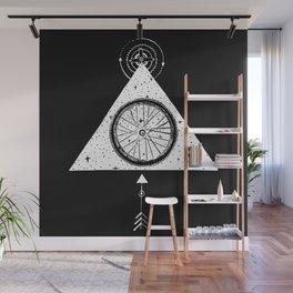 geo black bike Wall Mural