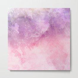 Pink Watercolor Texture Metal Print