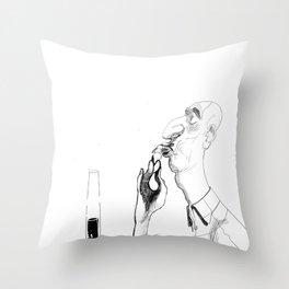 the shrimp sucker Throw Pillow
