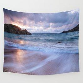 Sunset ocean Wall Tapestry