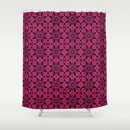 Pink Yarrow Floral Pattern Shower Curtain