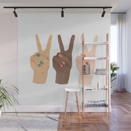 Peace Hands Wall Mural