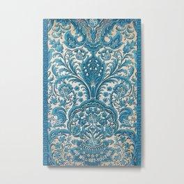 Rubino MET Silk Floral Design Flower Metal Print