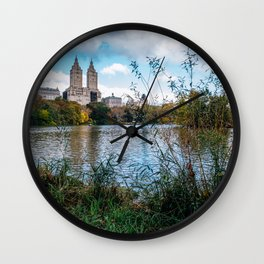 The Lake and The San Remo in Central Park New York City Wall Clock