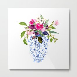 Whimsical Chinoiserie - Number 2 Metal Print