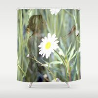 fairies Shower Curtains featuring Flower Fairies by BryonyEloise